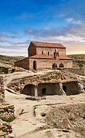 Picture &amp; image of the medieval Christian Basilica, Uplistsikhe (Lords Fortress) troglodyte cave city, near Gori, Shida Kartli, Georgia. UNESCO World Heritage Tentative List<br /> <br /> Inhabited from the early Iron age to the late middle ages Uplistsikhe cave city eas, during the Roman &amp; Hellenistic period, home to around 20,000 people.