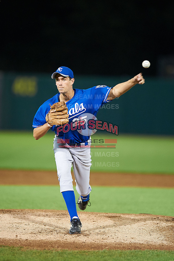 Evan Smith #25 of Mary G. Montgomery High School in Semmels, Alabama playing for the Kansas City Royals scout team during the East Coast Pro Showcase at Alliance Bank Stadium on August 1, 2012 in Syracuse, New York.  (Mike Janes/Four Seam Images)