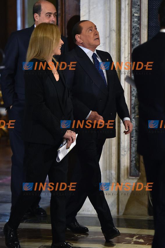 Silvio Berlusconi <br /> Roma 03-02-2015 Quirinale <br /> Insediamento Presidente della Repubblica italiana. Newly elected President of italian Republic <br /> Foto Andrea Staccioli / Insidefoto