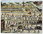 RUSSIA: STRELTSY, 1699. /nThe execution of the Streltsy at Moscow, Russia, in 1699 by order of Peter the Great. Contemporary engraving.