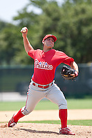 Jordan Whatcott of the Gulf Coast League Phillies during the game at the ESPN Wide World of Sports Complex in Orlando, Florida July 10 2010. Photo By Scott Jontes/Four Seam Images