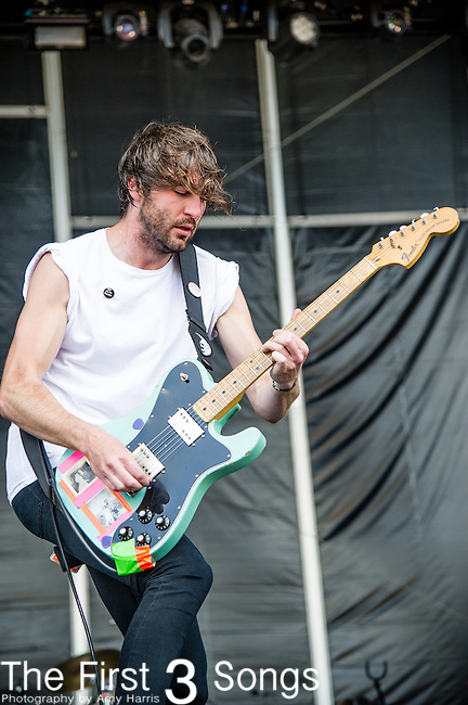 Brian King of Japandroids performs during Day 2 of the 2013 Firefly Music Festival in Dover, Delaware.
