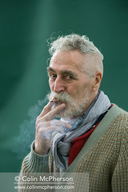 Celebrated Scottish artist and playwright, and husband of actress Tilda Swinton, John Byrne, pictured at the Edinburgh International Book Festival where he talked about his career. The three-week event is the world's biggest literary festival and is held during the annual Edinburgh Festival. The 2011 event featured talks and presentations by more than 500 authors from around the world..