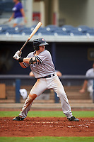 Tampa Yankees second baseman Nick Solak (39) at bat during the first game of a doubleheader against the Charlotte Stone Crabs on July 18, 2017 at Charlotte Sports Park in Port Charlotte, Florida.  Charlotte defeated Tampa 7-0 in a game that was originally started on June 29th but called to inclement weather.  (Mike Janes/Four Seam Images)