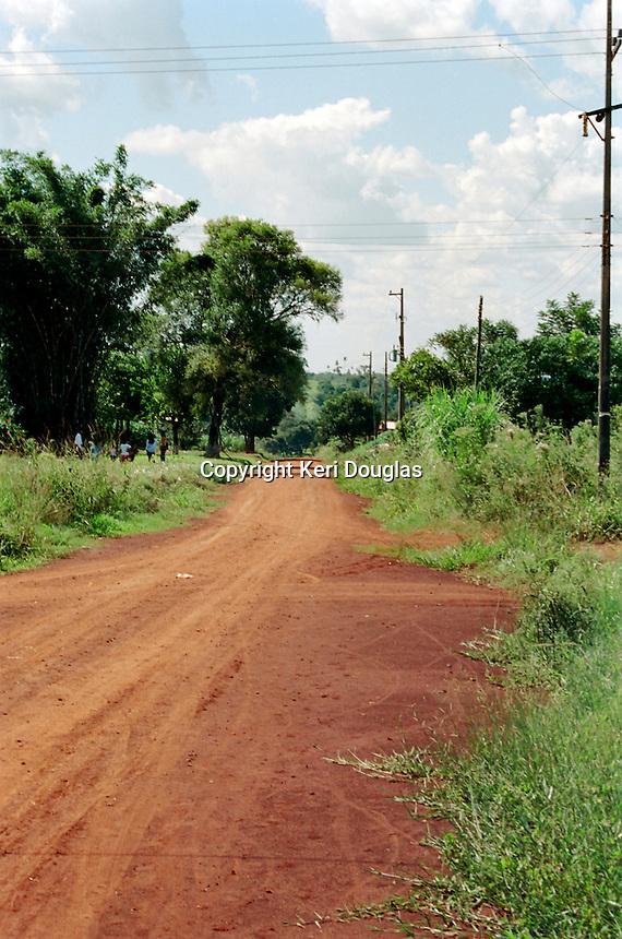 Red earth road, Asuncion, Paraguay