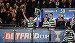 08.11.2019 League Cup Final, Rangers v Celtic: Scott Brown with the Cup