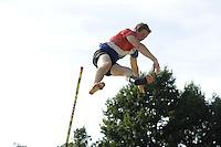 FIERLJEPPEN: BURGUM: 10-09-2016, Pollepleats Nationale Competie, winnaar Jaco de Groot , ©foto Martin de Jong