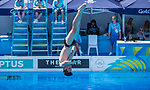 Wales Aidan Heslop in action during the Preliminary 3m Spring board<br /> <br /> *This image must be credited to Ian Cook Sportingwales and can only be used in conjunction with this event only*<br /> <br /> 21st Commonwealth Games - Diving -  Day 8 - 12\04\2018 - Gold Coast Optus Aquatic centre - Gold Coast City - Australia