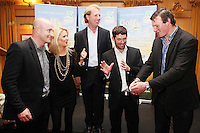 NO REPRO FEE. Pádraig Harrington and Bóthar's Golf With Stars. L-R Dennis Hickey, Niamh Mulqueen from Bothar, Charlie Swan, Pádraig Harrington and Malcom O Kelly are pictured at the K Club for Bóthar's Golf With Stars.  Sporting stars from all disciplines took to the greens of the K Club yesterday, Friday, October 22nd to play a round of golf with members of the general public who won places through Bóthar's Golf With Stars. The winners received their prizes from Pádraig Harrington in a ceremony yesterday evening. Proceeds from the raffle will go to towards supporting Bóthar's projects in Pakistan. For further information phone 1850 82 99 99 or log onto bothar.org. Picture James Horan/Collins Photos