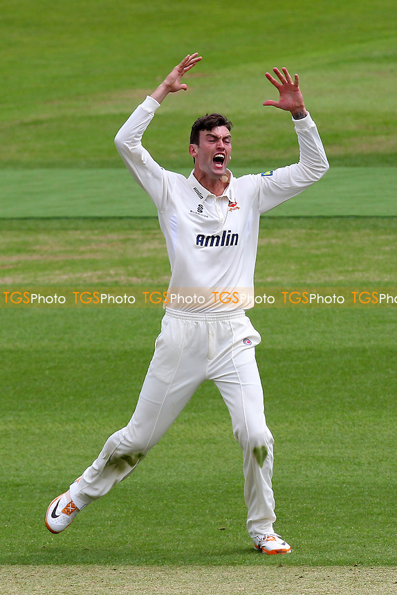 Reece Topley of Essex with a loud but unsuccessful appeal for a wicket - Hampshire CCC vs Essex CCC - LV County Championship Division Two Cricket at the Ageas Bowl, West End, Southampton - 15/06/14 - MANDATORY CREDIT: Gavin Ellis/TGSPHOTO - Self billing applies where appropriate - 0845 094 6026 - contact@tgsphoto.co.uk - NO UNPAID USE