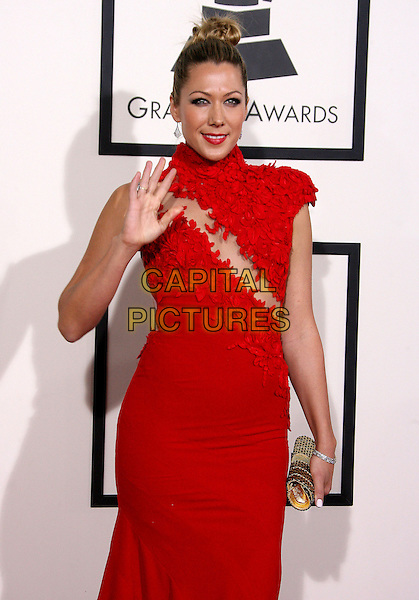 LOS ANGELES, CA - JANUARY 26 - Colbie Caillat. 56th GRAMMY Awards held at the Staples Center. <br /> CAP/ADM<br /> &copy;AdMedia/Capital Pictures