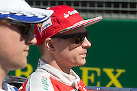 March 20, 2016: Kimi Raikkonen (FIN) #7 from the Scuderia Ferrari team at the drivers' parade prior to the 2016 Australian Formula One Grand Prix at Albert Park, Melbourne, Australia. Photo Sydney Low