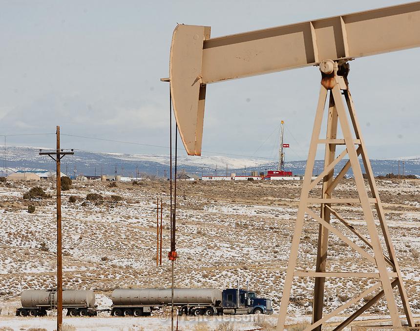 Trent Nelson     The Salt Lake Tribune.Equipment in the oil fields of the Uintah Basin Tuesday, February 21, 2012 southeast of Vernal, Utah.