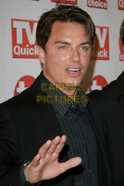 JOHN BARROWMAN .Inside Arrivals at the TV Quick & TV Choice Awards,.The Dorchester Hotel, London, England, .September 3rd 2007..half length  portrait hand funny.CAP/AH.©Adam Houghton/Capital Pictures.