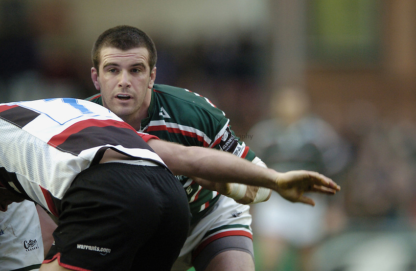 Photo: Jonathan Butler..Leicester Tigers v Saracens. Guinness Premiership. 01/01/2007..Shane Jennings of Leicester Tigers.