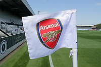 General view of the corner flag ahead of Arsenal Women vs Tottenham Hotspur Women, Friendly Match Football at Meadow Park on 25th August 2019