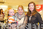 Adam Deenihan Fitzgerald with his mom Julie Deenihan and Rebecca O'Sullivan from Abbeydorney at the Bump to Baby event held in CH Chemist, Tralee on Tuesday.
