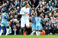 Manchester City's Gabriel Jesus celebrates scoring the first goal during the Premier League match between Manchester City and Swansea City at the Etihad Stadium, Manchester, England. Sunday 05 February 2017