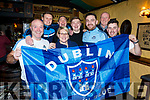 A sea of blue in Sean &Oacute;gs from Dublin on Friday night.<br /> Front l to r: Adrian Kavanagh, Lorraine Keeley, Dan Gibson and Colm Delaney.<br /> Back l to r: Paul Shanog, John and Darragh Keeley and Sean McElligott of Sean &Oacute;gs.