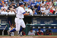 Royals DH Billy Butler in action against the Detroit Tigers at Kauffman Stadium in Kansas City, Missouri on May 5, 2007.