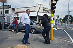 JOHANNESBURG, SOUTH AFRICA - APRIL 1: Sol Kerzner, the South African hotel magnate, walks on a street in his old neighborhood in Bez Valley on April 1, 2009 in Johannesburg, South Africa. Mr. Kerzner has finally returned to SA after spending many years overseas developing hotels. He opened a One&Only Hotel in Cape Town on April 3, 2009. (Photo by Per-Anders Pettersson)
