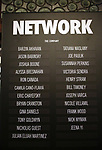 "Lobby cast board for the Broadway Opening Night Performance Curtain Call for ""Network"" starring Bryan Cranston at the Belasco Theatre on December 6, 2018 in New York City."