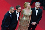 70eme Festival International du Film de Cannes. Montee de la ceremonie de cloture, vues du toit du Palais . 70th International Cannes Film Festival. Vew from rof top of closing red carpet<br />  Thurman, Uma; Kateb, Reda