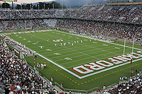 16 September 2006: Kickoff during Stanford's 37-9 loss to Navy during the grand opening of the new Stanford Stadium in Stanford, CA.