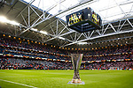 A general view of the UEFA Europa League trophy pitchside during the UEFA Europa League Final match at the Friends Arena, Stockholm. Picture date: May 24th, 2017.Picture credit should read: Matt McNulty/Sportimage