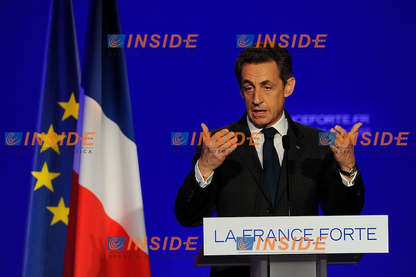 Nicolas Sarkozy.Meeting di Reuil Malmaison.24/03/2012 Francia.Foto Insidefoto / Christian Liewing / FEP..Italy Only