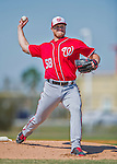 25 February 2016: Washington Nationals pitcher Jonathan Papelbon throws during the first full squad Spring Training workout at Space Coast Stadium in Viera, Florida. Mandatory Credit: Ed Wolfstein Photo *** RAW (NEF) Image File Available ***