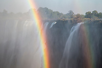 Double rainbow in the spray of the Vicoria Falls