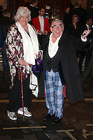 Ronnie Corbett and wife Anne arriving for the I Can't Sing Press Night, at the Paladium, London. 26/03/2014 Picture by: Alexandra Glen / Featureflash