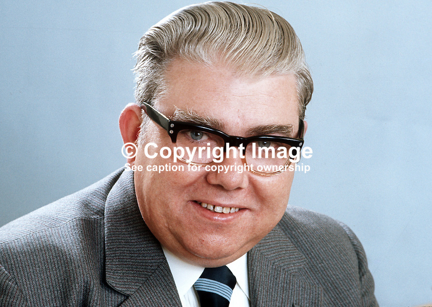 William Gunning, aka Billy Gunning, N Ireland Labour Party, candidate, North Belfast, in N Ireland Assembly Election 1973. 197305020259.<br /> <br /> Copyright Image from Victor Patterson, 54 Dorchester Park, Belfast, UK, BT9 6RJ<br /> <br /> t1: +44 28 9066 1296 (from Rep of Ireland 048 9066 1296)<br /> t2: +44 28 9002 2446 (from Rep of Ireland 048 9002 2446)<br /> m: +44 7802 353836<br /> <br /> e1: victorpatterson@me.com<br /> e2: victorpatterson@gmail.com<br /> <br /> The use of my copyright images is subject to my Terms &amp; Conditions.<br /> <br /> It is IMPORTANT that you familiarise yourself with them. They are available on my website at www.victorpatterson.com.<br /> <br /> None of my copyright images may be used on a website unless they are visibly watermarked, i.e. &copy; Victor Patterson within the body of the visible image. Metadata denoting my copyright must NOT be deleted. <br /> <br /> Web use (maximum size - 300 kb) is extra at currently recommended NUJ rates.