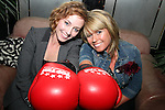 Laura O'Donoghue and Jennifer Byrne at the Launch of the White Collar Boxing Event...Picture Jenny Matthews/Newsfile.ie