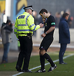 Police matchy commander with referee Steven Brown