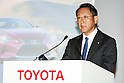Toyota Motor Corp. President and CEO Akio Toyoda speaks during a press conference on May 11, 2016, Tokyo, Japan. Toyota Motor Corp. announced a record profit of 2.31 trillion yen ($21.3 billion) for its fiscal year ending on March 31. This was up 6.4% from the 2.17 trillion yen of the previous year, but the the giant carmaker cautioned that it expects a 35% drop in profits for the current fiscal year to 1.5 trillion yen. (Photo by Rodrigo Reyes Marin/AFLO)