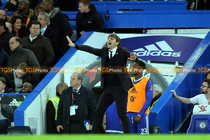 Chelsea Manager, Antonio Conte during Chelsea vs Manchester United, Emirates FA Cup Football at Stamford Bridge on 13th March 2017