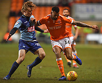 Blackpool's Curtis Tilt battles with Wycombe Wanderers' Alex Samuel<br /> <br /> Photographer Dave Howarth/CameraSport<br /> <br /> The EFL Sky Bet League One - Blackpool v Wycombe Wanderers - Tuesday 29th January 2019 - Bloomfield Road - Blackpool<br /> <br /> World Copyright © 2019 CameraSport. All rights reserved. 43 Linden Ave. Countesthorpe. Leicester. England. LE8 5PG - Tel: +44 (0) 116 277 4147 - admin@camerasport.com - www.camerasport.com