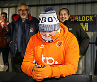 Blackpool supporters<br /> <br /> Photographer Andrew Kearns/CameraSport<br /> <br /> The Emirates FA Cup Second Round - Solihull Moors v Blackpool - Friday 30th November 2018 - Damson Park - Solihull<br />  <br /> World Copyright © 2018 CameraSport. All rights reserved. 43 Linden Ave. Countesthorpe. Leicester. England. LE8 5PG - Tel: +44 (0) 116 277 4147 - admin@camerasport.com - www.camerasport.com