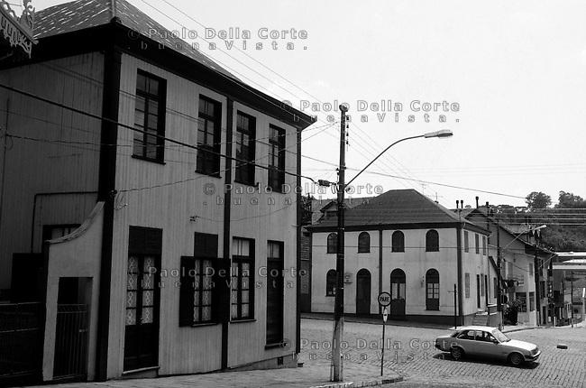 Brazsile - Bento Gonçalves è un comune del Brasile nello Stato del Rio Grande do Sul. Panoramica dlel centro.