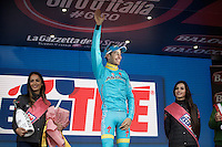 stage winner for a 2nd consecutive day: Fabio Aru (ITA/Astana)<br /> <br /> Giro d'Italia 2015<br /> (finish of) stage 20: Saint Vincent - Sestriere (199km)