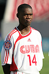 13 March 2008: Armando Coroneaux (CUB) (14). The Honduras U-23 Men's National Team defeated the Cuba U-23 Men's National Team 2-0 at Raymond James Stadium in Tampa, FL in a Group A game during the 2008 CONCACAF's Men's Olympic Qualifying Tournament.