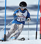 LEAD, SD - JANUARY 31, 2016 -- Grace Schad works through the slalom in the U12 category during the 2016 USSA Northern Division Ski Races at Terry Peak Ski Area near Lead, S.D. Sunday. (Photo by Richard Carlson/dakotapress.org)