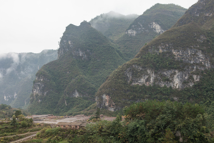 Guizhou province is dominated with rugged karst mountains in which 18 ethnic minority people live in rural villages.