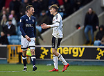 David Brooks of Sheffield United and Jed Wallace of Millwall during the championship match at The Den Stadium, Millwall. Picture date 2nd December 2017. Picture credit should read: Robin Parker/Sportimage