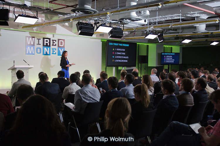 Rachel Botsman, Collaborative Lab.  Wired Money event at Level39, which occupies the entire 39th floor of the iconic tower at One Canada Square, describes itself as Europe's largest accelerator space for finance, retail and future cities technology companies.  It is part of the London Tech City initiative, and was set up by the Canary Wharf Group in March 2013 to put high potential tech developers in the same space as influential technology buyers and investors.