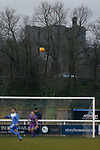 Brougham Castle and the A66 overlook the West side of Frenchfield Park. Penrith AFC V Hebburn Town, Northern League Division One, 22nd December 2018. Penrith are the only Cumbrian team in the Northern League. All the other teams are based across the Pennines in the north east.<br />
