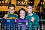Jackson O'Mahony, Kate and Conor horgan at the Kerry team homecoming in Killarney on Monday