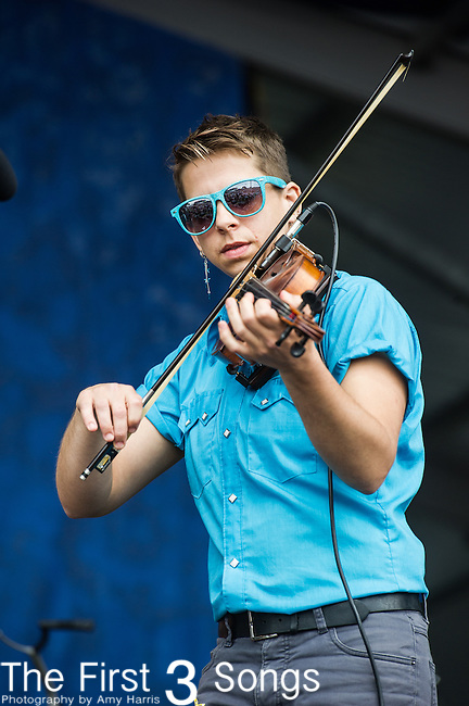 Yosi Pearlstein of Hurray for the Riff Raff performs during the New Orleans Jazz & Heritage Festival in New Orleans, LA.